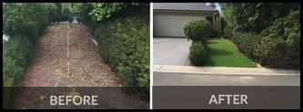 Before and After for Artificial Landscaping