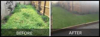 Before and After Image for Synthetic Landscaping