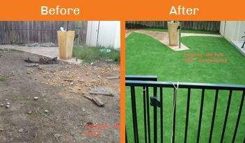 forgione before & after xtreme turf work