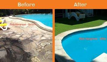 hargrave before & after xtreme turf work