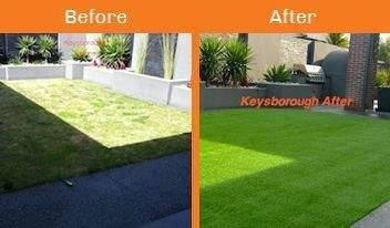 keysborough before & after xtreme turf work