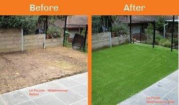lo piccolo before & after xtreme turf work