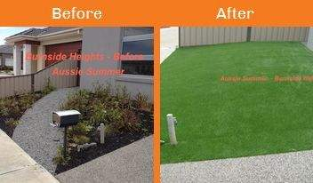 burnside heights before & after xtreme turf work