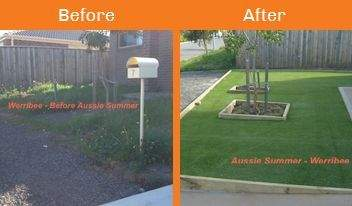werribee before & after xtreme turf work