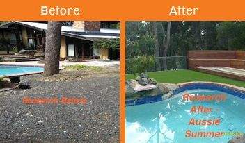 research before & after xtreme turf work