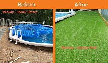 mackay before & after xtreme turf work