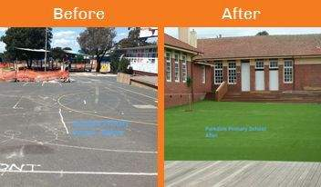 parkdale before & after xtreme turf work
