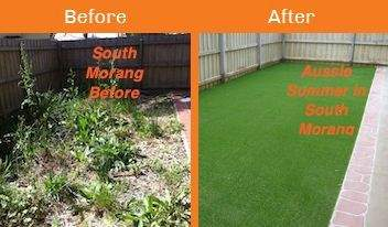 south morang before & after xtreme turf work