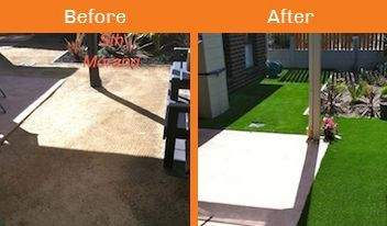 sth morang before & after xtreme turf work